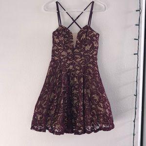 Maroon/nude  Homecoming dress